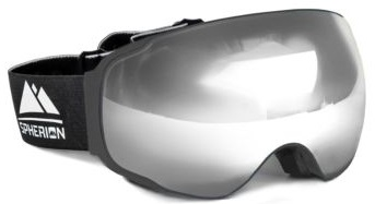 Spherion Gear Ski Goggles front side.